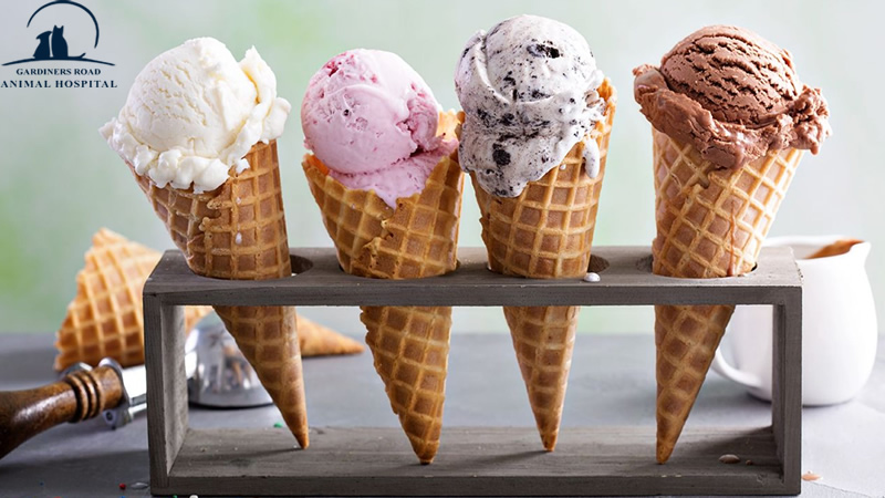 Ice creams made from dairy, which means it contains milk sugar.